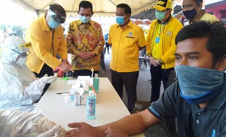 400 Warga Batam Ikut Rapid Test Gratis Dari Golkar Kepri