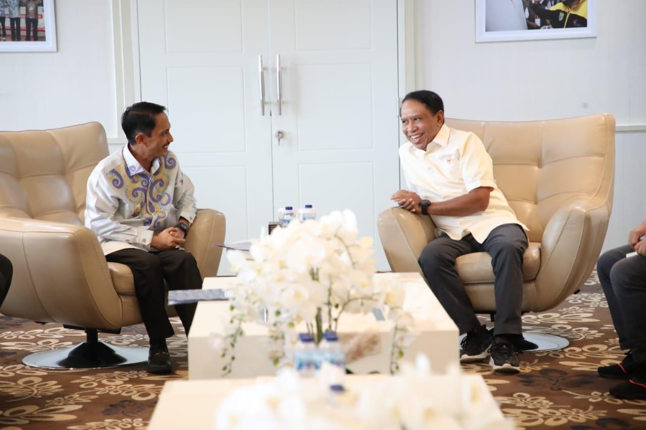 Menpora Zainudin Amali Apresiasi Ide Nelson Pomalinggo Kembangkan Pemuda Gorontalo