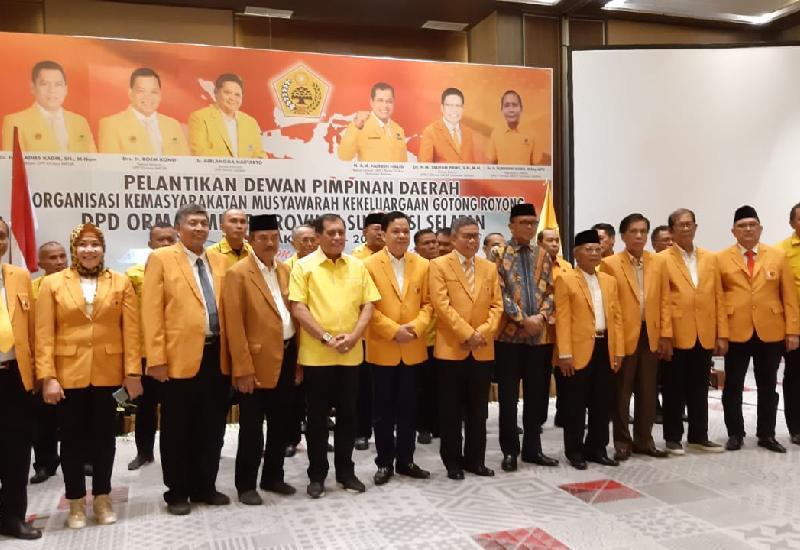 Taufan Pawe Satukan Nurdin Abdullah-Nurdin Halid di Kepengurusan Ormas MKGR Sulsel