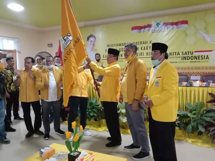 HM Wardan Terpilih Aklamasi Pimpin Golkar Inhil