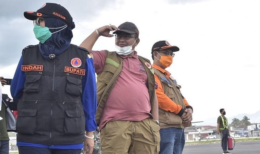 Bersama Mensos dan Kepala BNPB, Muhammad Fauzi Tinjau Korban Banjir Bandang di Luwu Utara