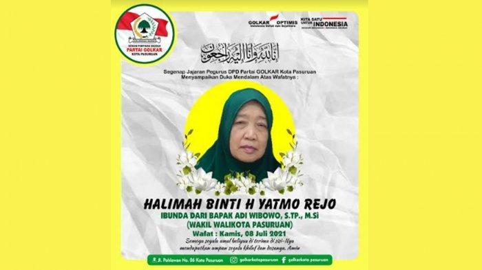 Innalillahi, Ibunda Wakil Walikota Pasuruan Adi Wibowo Meninggal Dunia