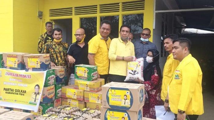 TM Nurlif Gerak Cepat Galang Kader Golkar Bantu Korban Banjir di Aceh Utara, Aceh Timur, Lhokseumawe