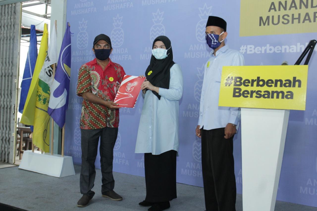 Ingin Berbenah Bersama Banjarmasin, 3 Parpol Non Parlemen Merapat ke Ananda-Mushaffa Zakir