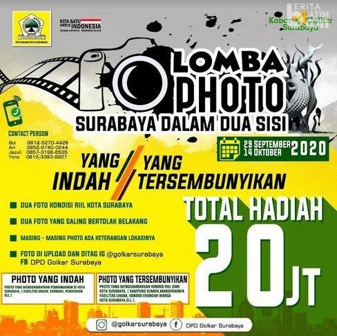 Yuk Ikutan! Golkar Kota Surabaya Gelar Lomba Foto Berhadiah Puluhan Juta Rupiah