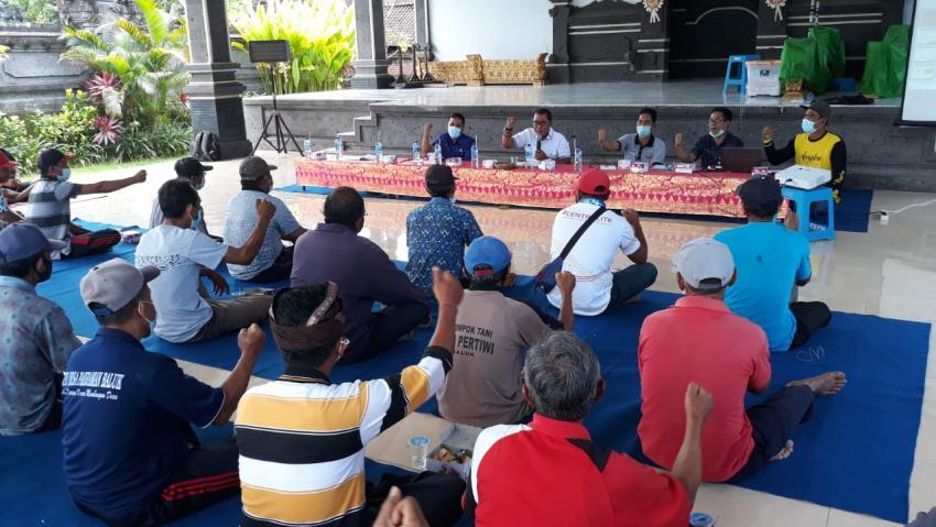 Bagus Adhi Harap Demplot Subak di Tabanan dan Jembrana Hasilkan Beras Premium Cegah Diabetes dan Stunting