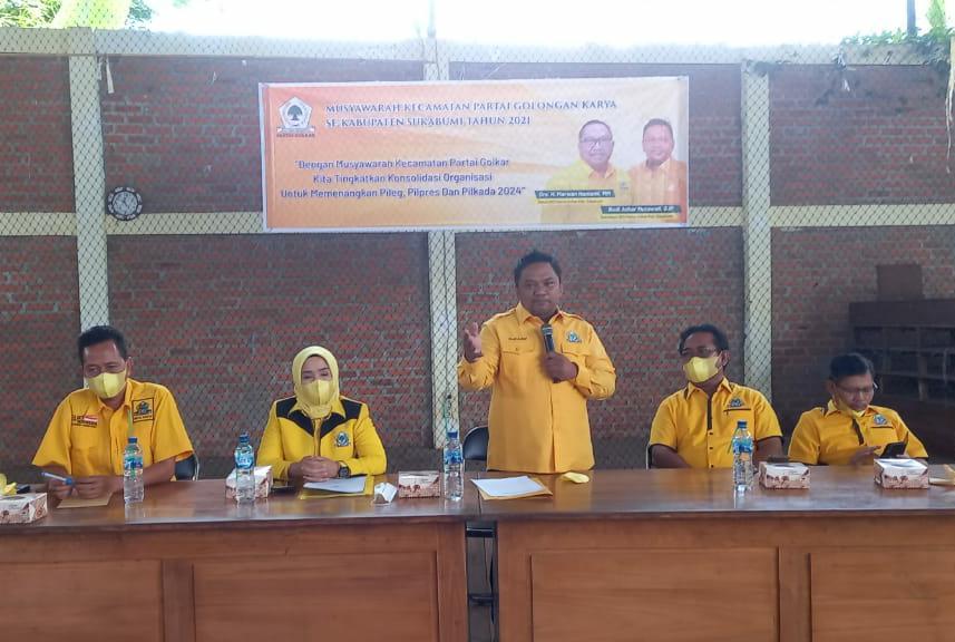 Panaskan Mesin Partai, Budi Azhar Tegaskan Golkar sukabumi Siap Menangkan Airlangga di Pemilu 2024