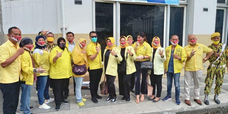 Tebar 40 Ribu Masker di Kota Medan, Syaf Lubis Sebut Ketum Airlangga Orang Baik dan Peduli