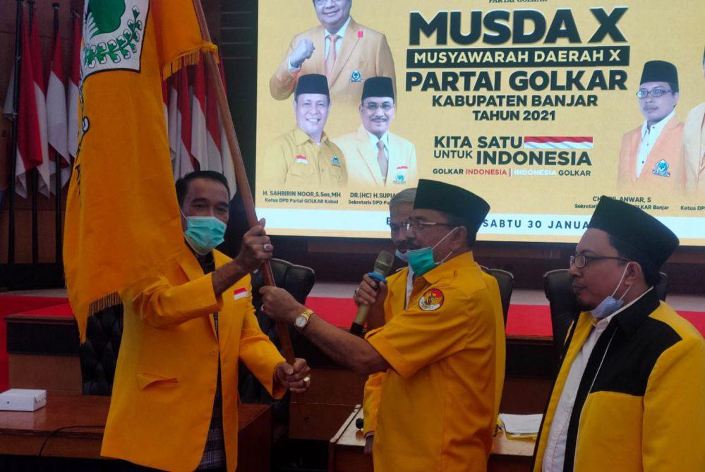 Kantongi Rekomendasi DPP, H Rusli Terpilih Aklamasi Ketiga Kalinya Jadi Ketua Golkar Kabupaten Banjar