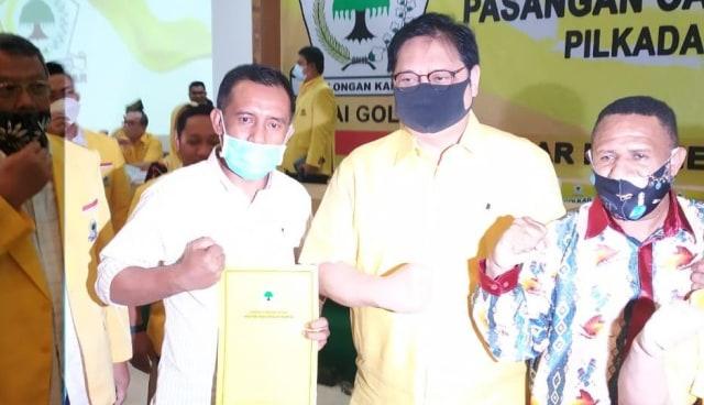 Golkar Resmi Usung Zakir Mando-Alpinus Kleopas Pay di Pilkada Halmahera Barat
