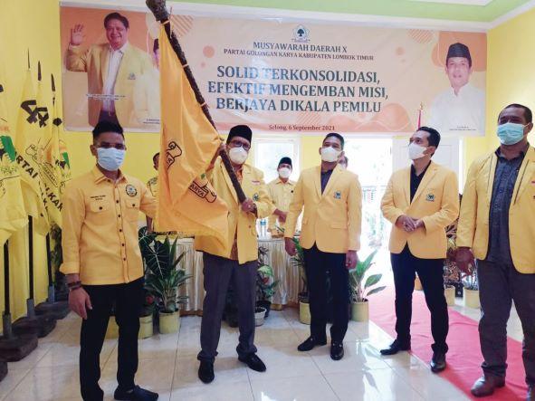 Hasan Rahman Terpilih Aklamasi Gantikan Daeng Paelori Pimpin Golkar Lombok Timur
