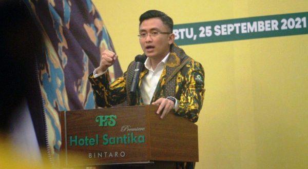 Dibuka Wagub Andika Hazrumy, Rakorda Kukuhkan Pengurus AMPG Banten Di Bawah Pilar Saga Ichsan