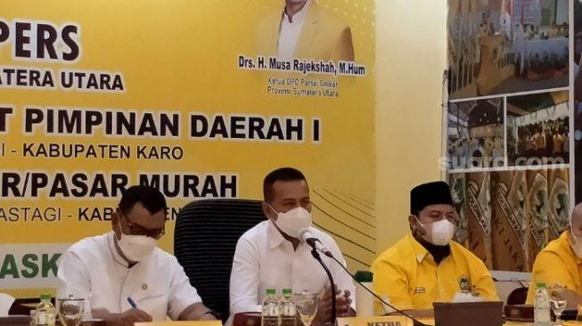 Gelar Rakerda dan Rapimda, Musa Rajekhsah Pimpin Konsolidasi Golkar Sumut Menuju Pilpres 2024