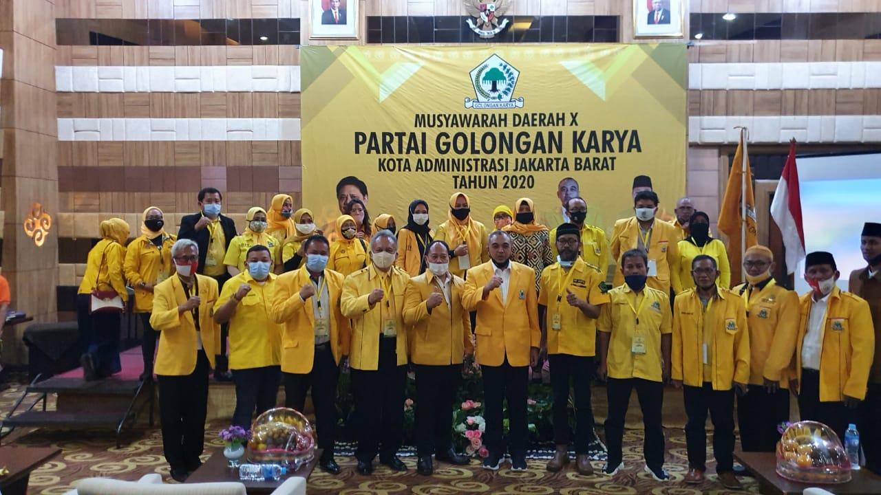 Terpilih Aklamasi Pimpin Golkar Jakarta Barat, Richard Moertidjaja Janjikan 2 Kursi Per Dapil