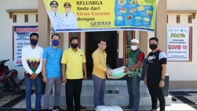 Kolaborasi AMPI dan AMPG Salurkan 60 Karung Beras di 20 Desa Kecamatan Bajang HSU