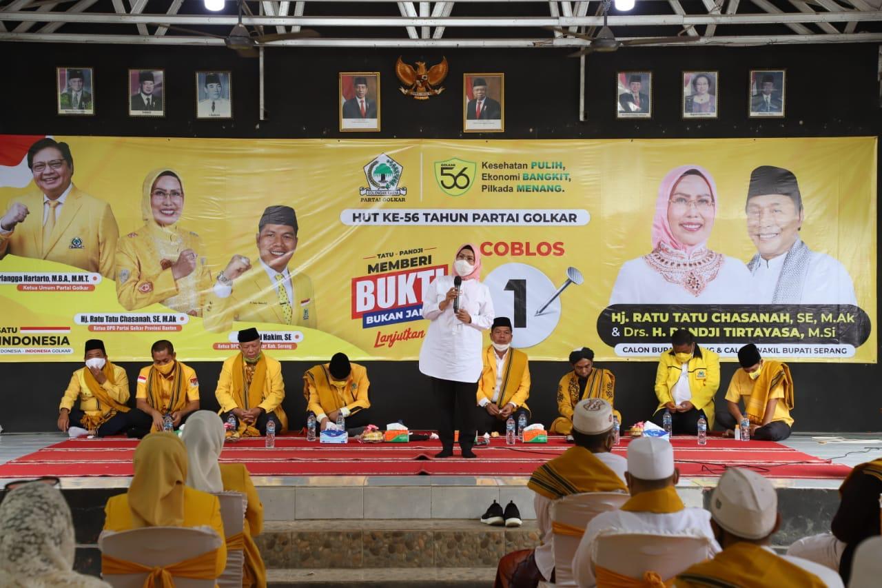 HUT Ke-56 Golkar, Ratu Tatu Chasanah Gelar Tasyakuran dan Dzikir Bareng Ulama Banten