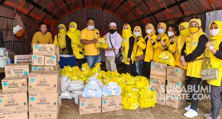 Golkar dan KPPG Sukabumi Kirim Bantuan ke Lokasi Bencana Pergerakan Tanah di Nyalindung