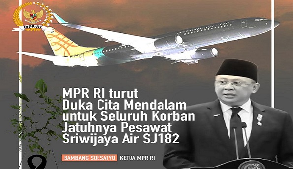 Bamsoet Sampaikan Duka Cita Mendalam Atas Musibah Jatuhnya Sriwijaya Air SJ 182